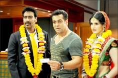 Ajay Devgn, Salman Khan and Zarine Khan