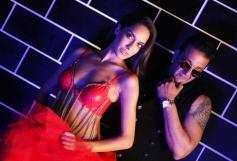 Lisa Haydon and Sanjay Dutt