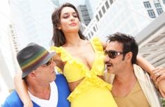 Sanjay Dutt, Lisa Haydon and Ajay Devgn