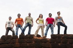 Tusshar Kapoor, Shreyas Talpade, Ajay Devgan, Kareena Kapoor, Arshad Warsi and Kunal Khemu