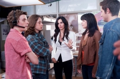 Erik Knudsen, Rory Culkin, Courteney Cox and Neve Campbell