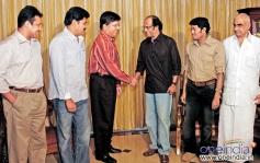 Rajini and Shankar with Kalanidhi maran