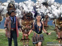 Rajini with Aishwarya Rai in Machu Picchu, Peru