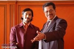 Girish Karnad with Chetan Kumar