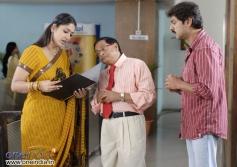 Jhansi, MS Naryana with Jagapati Babu in  Maa Nanna Chiranjeevi