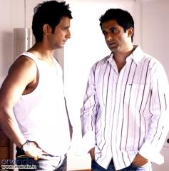 Sanjay Suri with Sharman Joshi