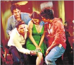 Akshay Kumar, Fardeen Khan, Ritesh Deshmukh and Diya Mirza