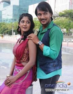 Shanker Aryan and Yagna Shetty in Kannada Movie Sadagara