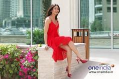 Ileana D'Cruz in Red Dress