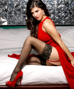 Sunny Leone in Red Outfit
