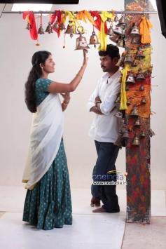 Vimal and Anjali in Naluguru Snehitula Katha