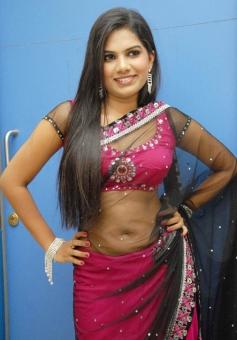 Neelam Shetty in Hot Pink Saree