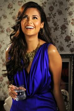 Esha Gupta in Blue Dress