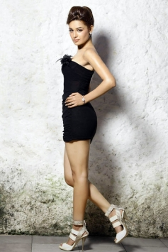 Uvika Chaudhary in Black Outfit