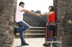 Aditya and Akanksha in Kannada Movie Edegarike