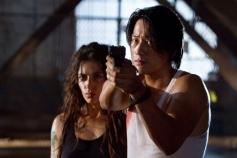 Sarah Shahi and Sung Kang