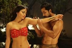 Shriya Saran and Prem Kumar Still From Chandra Film