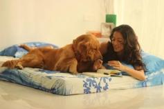Raima Sen and Pet Dog Bruno