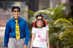 Kartik Tiwari and Nushrat Bharucha Still From Akaash Vani