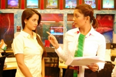 Tia Bajpai at on the sets of Identity Card