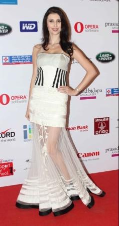 Claudia Ciesla at Smile Foundation Fashion Show