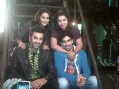 Madhuri Dixit, Ranbir Kapoor, Farah Khan and Ayan Mukherjee