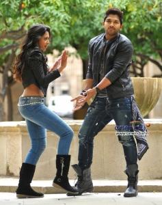 Allu Arjun and Catherine Tresa