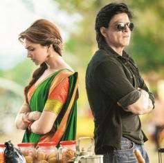 Deepika Padukone and Shahrukh Khan still from Chennai Express