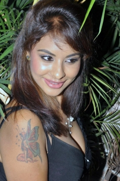 Hot Srilekha in Black Dress