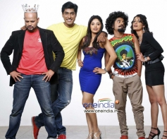 RJ Prithvi, Monish, Bhavana Rao, Vasu Dixit, Kanchan in Kannada Movie Money Honey Shani