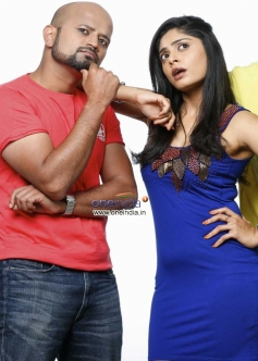 RJ Prithvi and Bhavana Rao in Kannada Movie Money Honey Shani