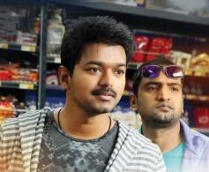 Santhanam and Vijay in Tamil Movie Thalaivaa