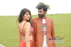 Yogesh and Akila Kishor in Kannada Movie Kaala Bhairava