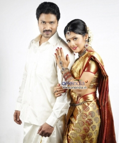 Adithya and Radhika in Kannada Movie Sweety