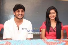Ajay Rao and Shravya at Kannada Film Rose Press Meet