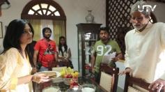 Amrita Rao and Amitabh Bachchan still from Satyagraha