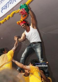 Arjun Rampal during the Janmashtami celebration