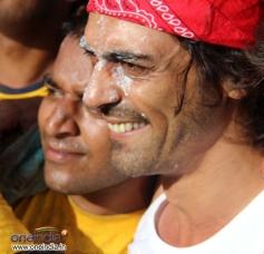 Arjun Rampal during Sanjay Nirupam's Dahi Handi Celebration
