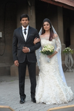 Arya and Nayantara wedding still from Raja Rani
