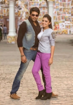 Arya and Nazriya Nazim still from Raja Rani