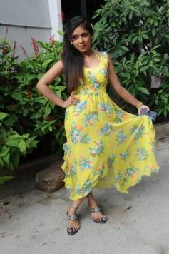 Bhavisyika Yellow Dress