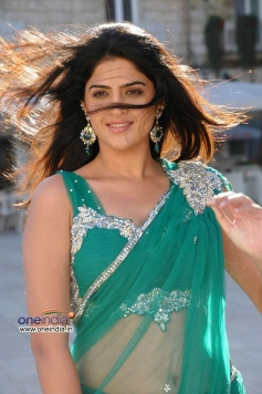 Deeksha Seth in Green Saree