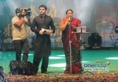 Kapil Sharma with Usha Uthup during Sachin Ahir's Dahi Handi Celebration