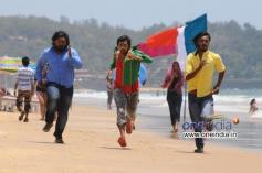Komal, Tarun Chandra and Srikanth in Kannada Movie Goa