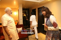 Manchu Lakshmi Prasanna meets Narendra Modi