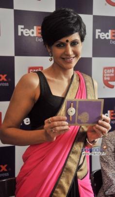 Mandira Bedi Launch the FedEx's Rakhi special offer in Mumbai