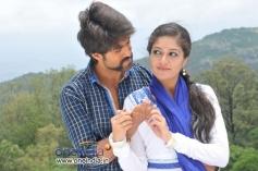 Meghana Raj and Yash in Kannada Movie Raja Huli