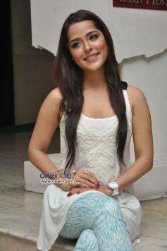 Priyanka Chabra at Athadu Aame O Scooter Movie Press Meet