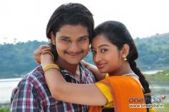 Rakesh and Tejaswini in Kannada Film Nandagokula