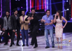 Salman Khan with Karan Johar and Madhuri Dixit